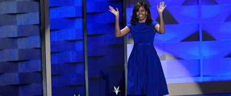 Political Fashion Obamas Dress by All About Obama S Blue Dnc Dress Abc News