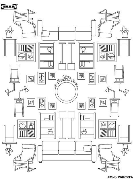 coloring pages furniture house branded furniture coloring books ikea coloring book