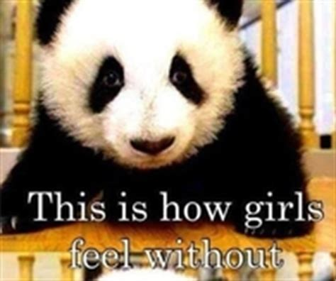 Panda Mascara Meme - this how girls feel without mascara