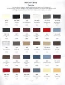 Mercedes Paint Colours 1985 Mercedes Paint Color Sle Chips Card Oem Colors Ebay