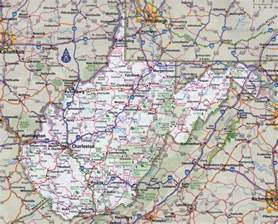 large detailed roads and highways map of virginia and west