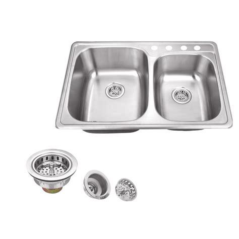 stainless steel sink undercoating kraus drop in stainless steel 33 in 1 60 40