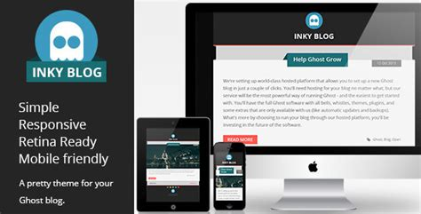 Muhidin Retina Ready Magazine Template Support inky responsive ghost theme your best themes