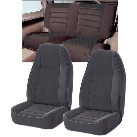 Rugged Seat Covers by Rugged Ridge Neoprene Custom Fit Seat Covers Combo In