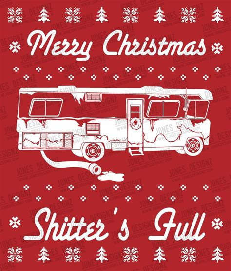svg shitter full ugly sweater clark griswold cousin eddie christmas vacation instant
