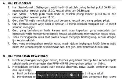 format daftar hadir guru paud tata tertib guru paud terbaru download format word