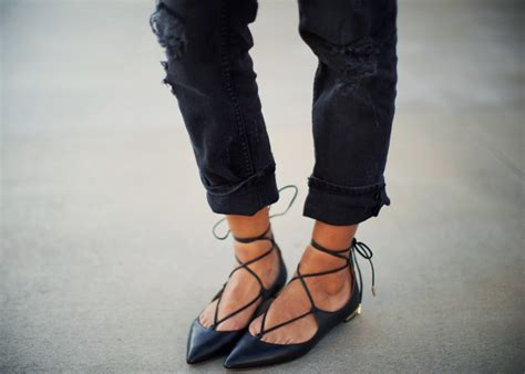 Lace Ballerinas Velvet the lace up flats that are taking your instagram feed