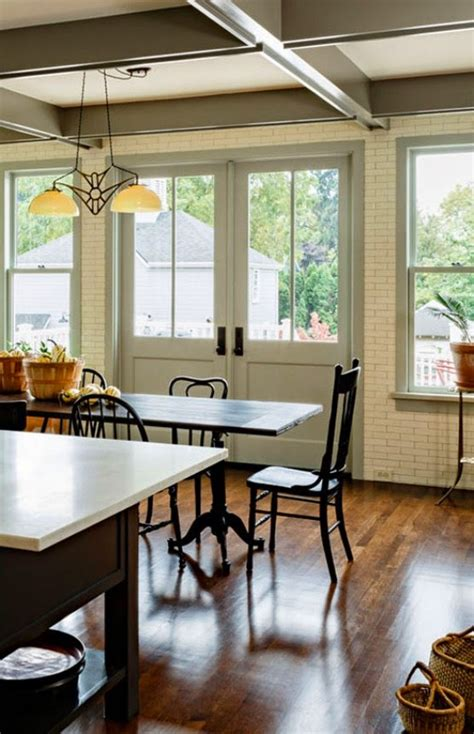chic  cozy victorian kitchen  dining room design