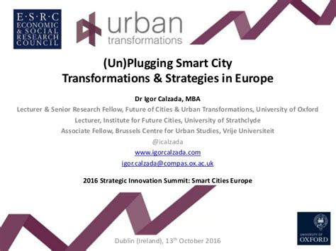 Mba In Strategic Management In Europe by Un Plugging Smart City Transformations Strategies In