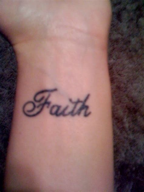 wrist tattoos faith faith tattoos
