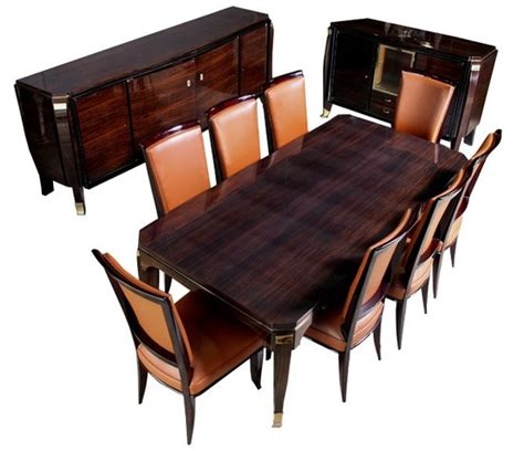 Surprising Art Deco Dining Room Chairs 86 For Gray Dining | deco dining room furniture jules leleu art deco macassar