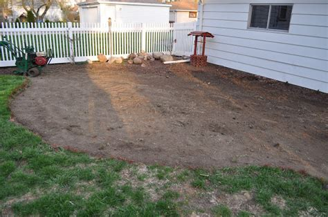 laying gravel in backyard carri us home diy paver patio
