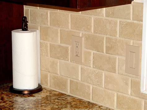 Travertine Tile Kitchen Backsplash Backsplash Kitchen Bar Backsplash Ideas Pinterest