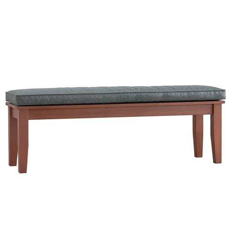 55 inch outdoor bench cushion homesullivan verdon gorge 55 in oiled wood outdoor bench