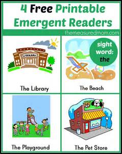 free printable emergent readers sight word quot the quot the