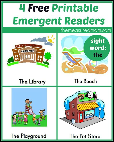 Free Printable Emergent Readers Sight Word Quot The Quot The Measured Mom Printable Books