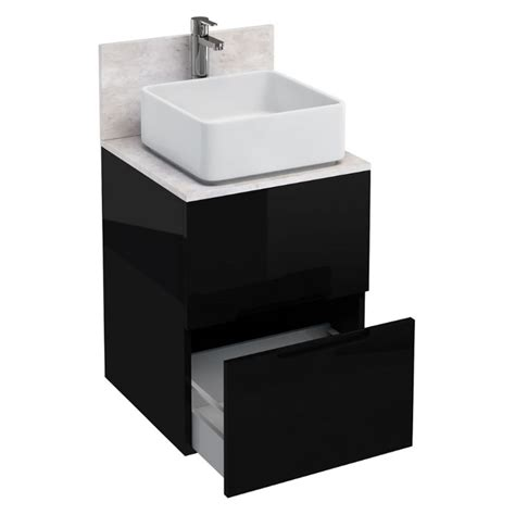 500mm floor standing drawer unit and ceramic square buy at bathroom city