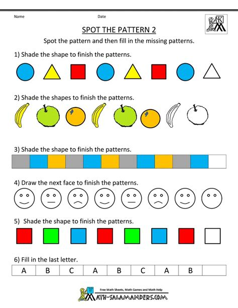 pattern activities stage 2 23 best new entrants pattern maths images on pinterest