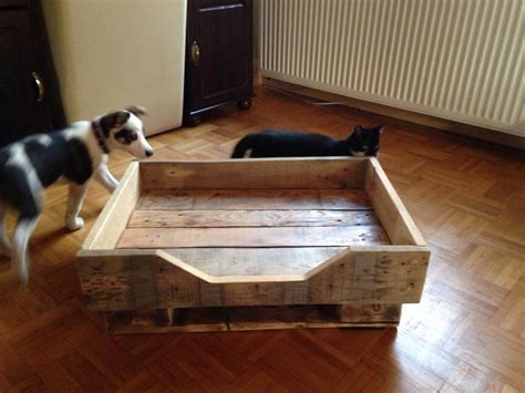 diy dog beds diy pallet dog bed with flat wooden legs 99 pallets