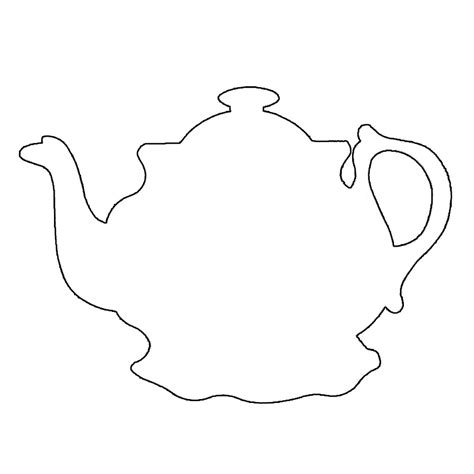 teapot template printable teapot outline cliparts co