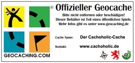 Aufkleber Dose Entfernen by Cachelabel Und Logbuch Mach 180 S Dir Selbst Cachoholic