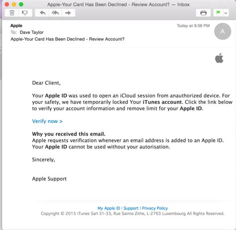 Search Id By Email Beware The Apple Id Phishing Attack Ask Dave