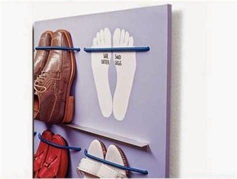 diy hanging shoe rack diy space saving hanging shoe rack the idea king