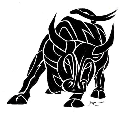 tribal ox tattoo tribal bull design