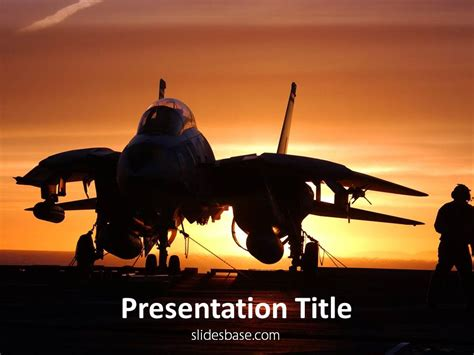 jet fighter powerpoint template slidesbase