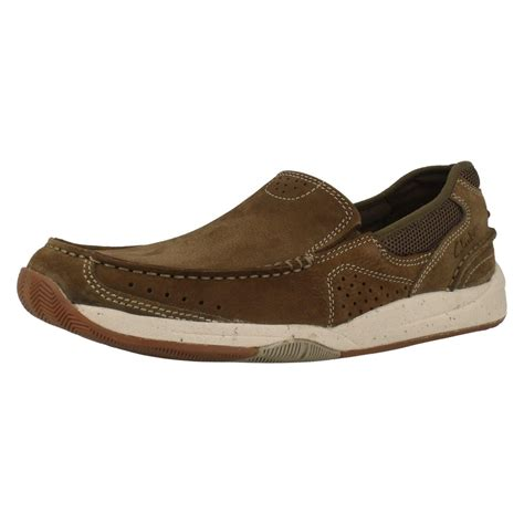 mens clarks casual shoes allston free