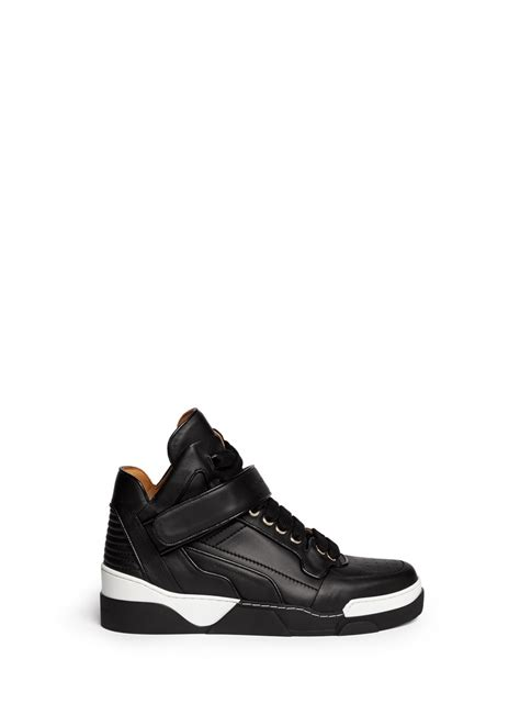 givenchy sneakers mens givenchy high top leather sneakers in black for lyst