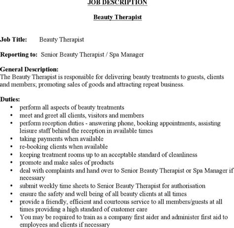 word job description templates download free premium