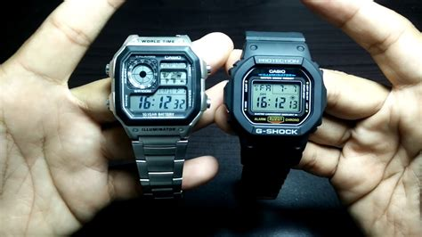 Casio Square Watches 25 dollars casio royale vs 50 dollars g shock square
