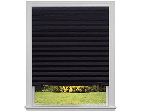 Black Bedroom Blinds Light Block Black Out Pleated Shade Window Blinds Blocking