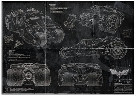 Print Tumbler batman batmobile tumbler blueprint print a2