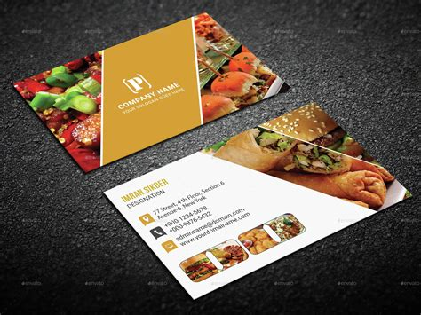 Catering Business Cards Sles