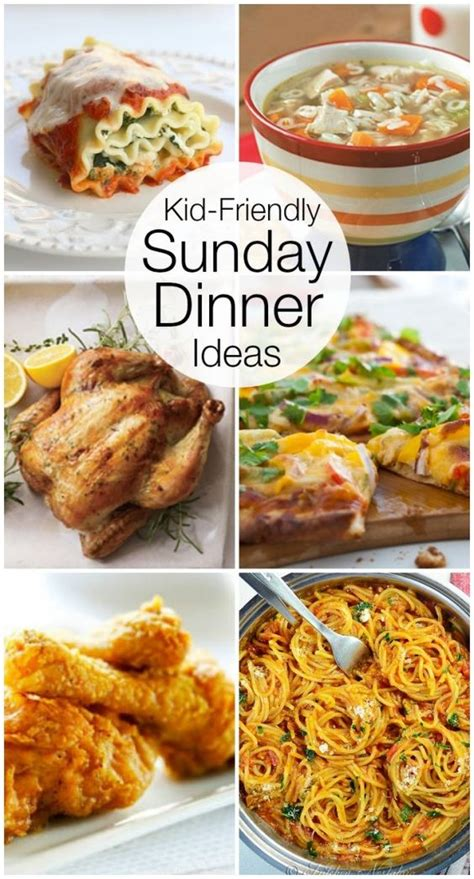 sunday dinners recipe ideas and dinner on - Recipe Ideas For A Dinner