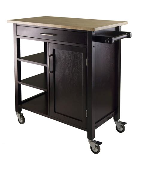 Rolling Kitchen Island Cart by Mali Utility Kitchen Cart Island Rolling Espresso Beech