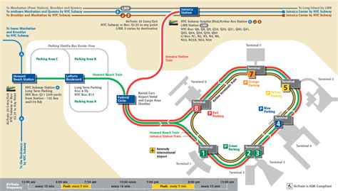 jfk airtrain map transit maps