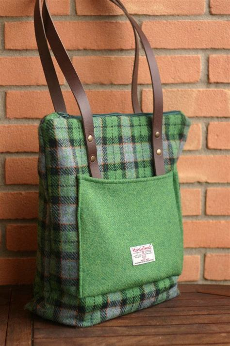 Handmade Totes And Purses - harris tweed tote bag wool bag tartan wool daily bag