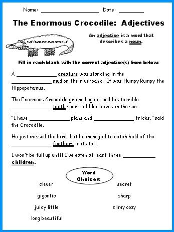 Adjective Worksheets 4th Grade by List Of Adjectives For Grade 4 New Calendar Template Site