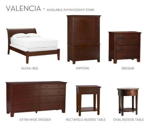 Valencia Bedroom Furniture Valencia Sleigh Bed Dresser Set Pottery Barn