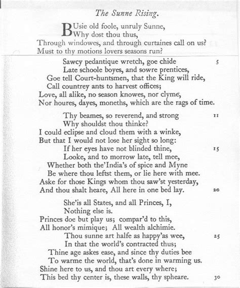 The Sun Rising Donne Essay by Salon Des Refus 233 S Poetry Meta Poem 3 Donne Quot The Sun Rising Quot Showing 1 8 Of 8