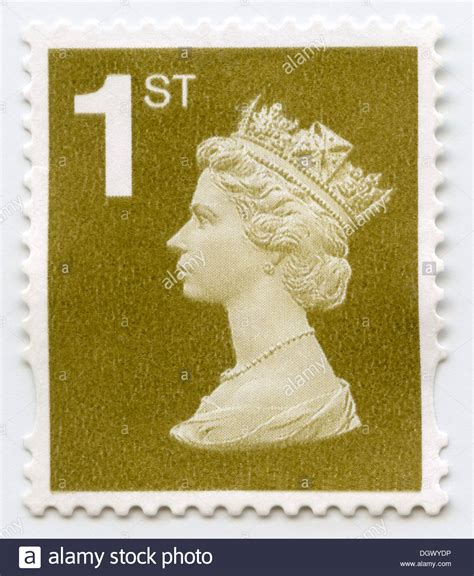 uk postage machin stamp depicting queen elizabeth ii stock