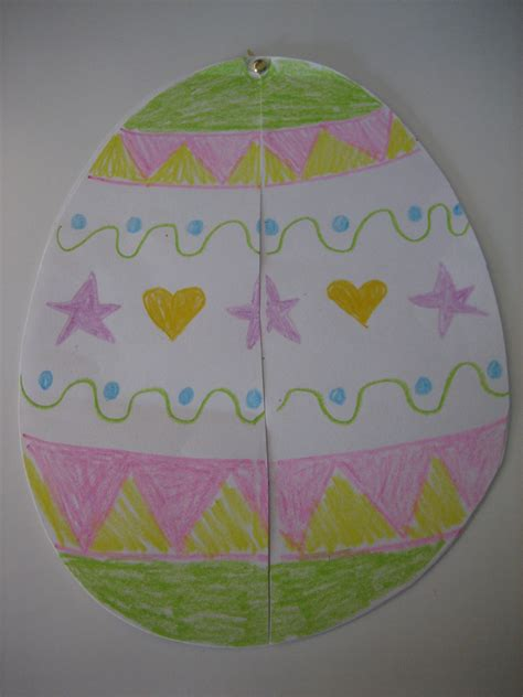 Easter Egg Paper Crafts - 2 easy easter paper crafts happy home