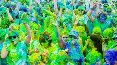 5k color vibe color vibe run combines exercise paint charity