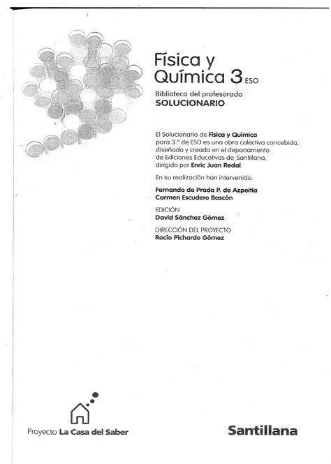 libro fyq 4 eso sm pdf solucionario fisica y quimica 3 186 eso santillana documents fyq qu 237 mica