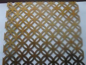 Brass Handrail Decorative Perforated Metal Panels