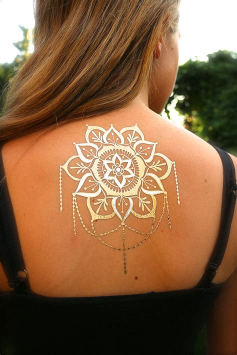 black and gold tattoo mandala black and gold flash hair and henna