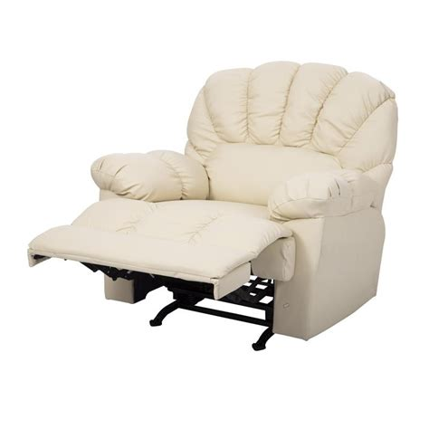 rocking sofa recliner homcom pu leather rocking sofa chair recliner cream